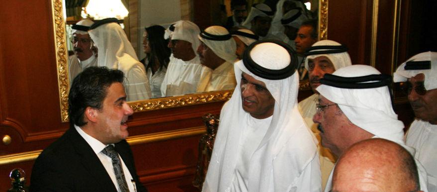 Amedee Santalo with King Sheikh Saud Al Qassimi
