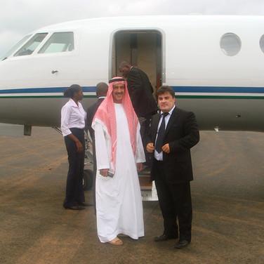 Amedee Santalo & Sheikh Tariq Al Qassimi