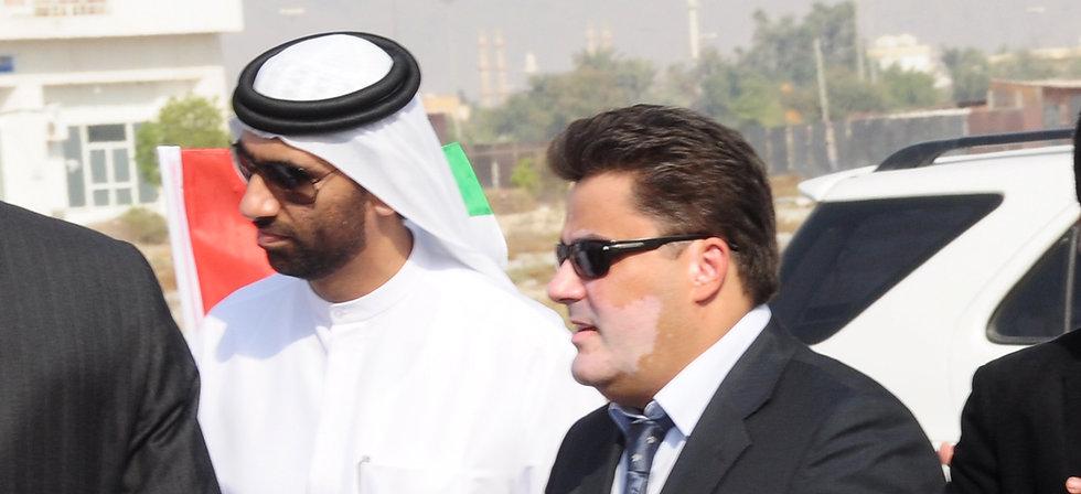 Amedee Santalo with Prince Sheikh Mohammed Al Qassimi