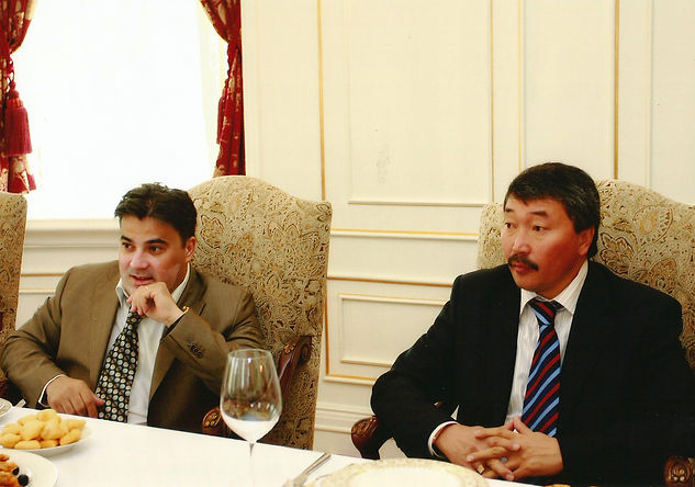 Amedee Santalo in kyrgyzstan parliament
