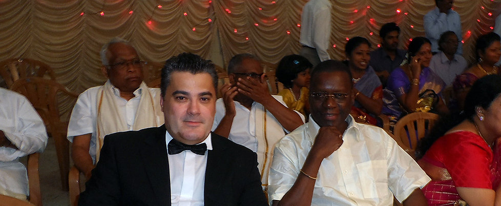 Amedee Santalo with Pierre Goudiaby Atepa in India