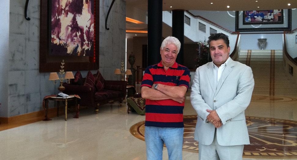 Amedee Santalo with Novaro in RAK Palace