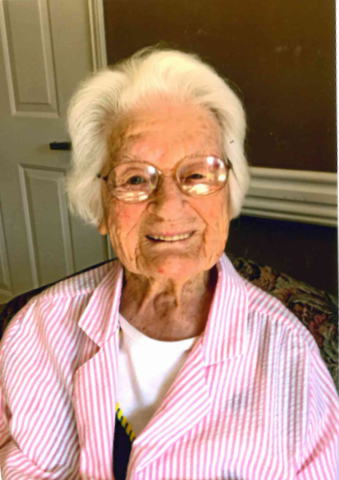 Ms. Ruby Lopp celebrates 102 years with a smile!