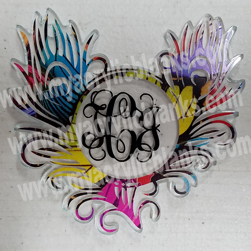 Double Feather Monogram