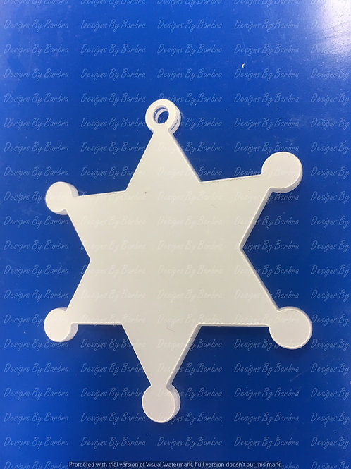 6 Pt. Sheriff Badge