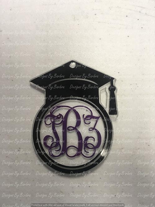 Graduation Cap Monogram