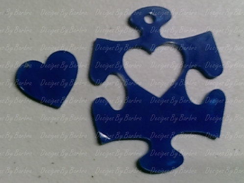 Puzzle with Heart Cut Out