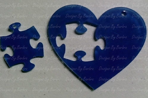 Heart with Puzzle Cut Out