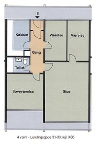 4 værl. - Lundingsgade 31-33, lejl. X06.