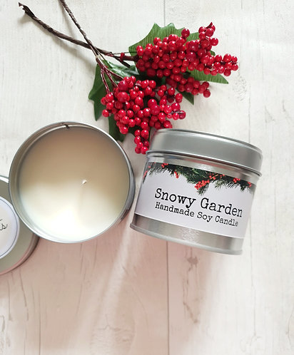 Snowy Garden Soy Candle