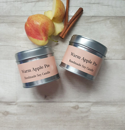 Warm Apple Pie scented candle