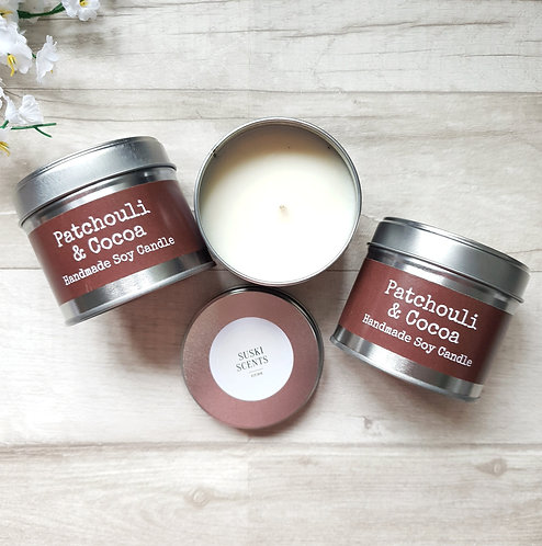 Patchouli & Cocoa Scented Candle