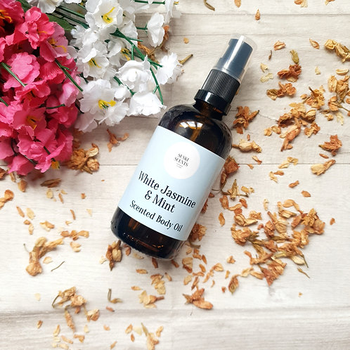 White Jasmine & Mint Body Oil