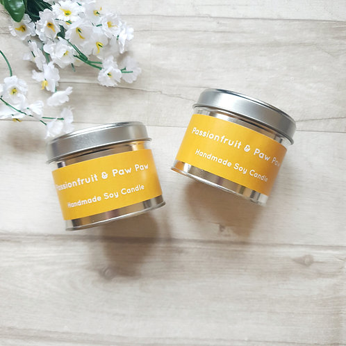 Passionfruit & Paw Paw scented candle