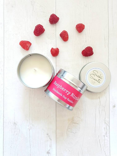 Raspberry Ripple Soy Candle