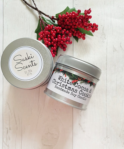 White Cocoa & Christmas Cookies soy candle