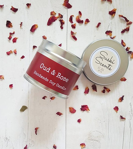 Oud & Rose Soy Candle