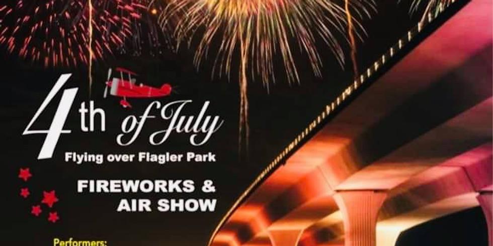 4th of July - Flying over Flagler