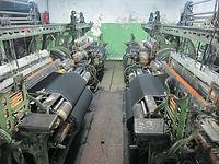 Weaving old shuttle loom