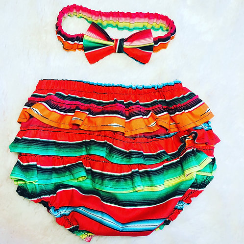 Ruffle bloomers with bow