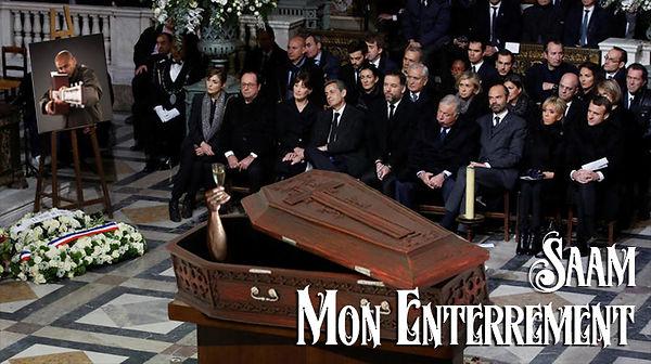Saam cercueil enterrement françois hollande carla bruni nicolas sarkozy macron castaner pécresse blanquer édouard philippe champagne guitare fusil