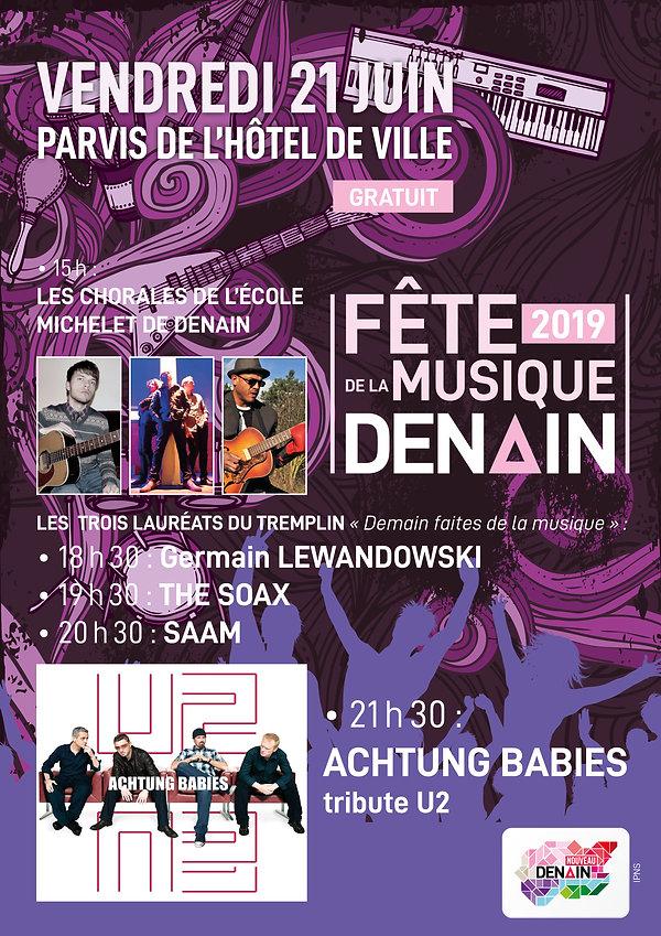 templin fête de la musique saam lauréat denain u2
