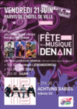 Saam concert chanson française Denain f^te de la musique U2