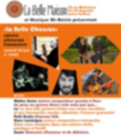 Saam concert Lo' Petit Grain  La Belle Maison chanson française bagnolet