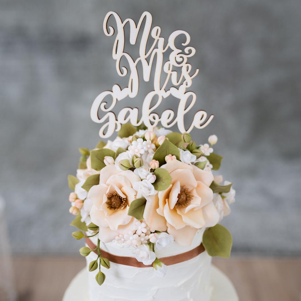 Detailansicht Hochzeitstorte
