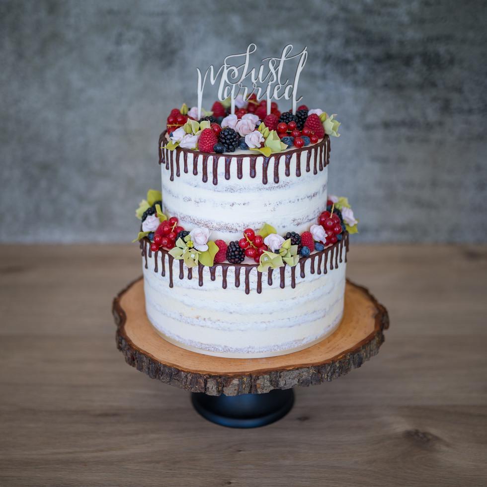 "Hochzeitstorte ""Naked Cake and Berries"""