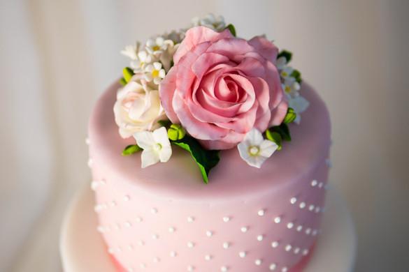 Detailansicht Zuckerblumen-Bouquet
