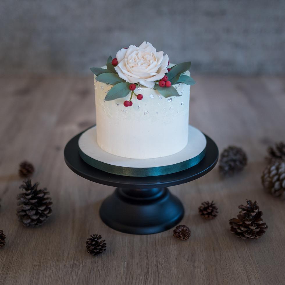 Winter-Hochzeitstorte