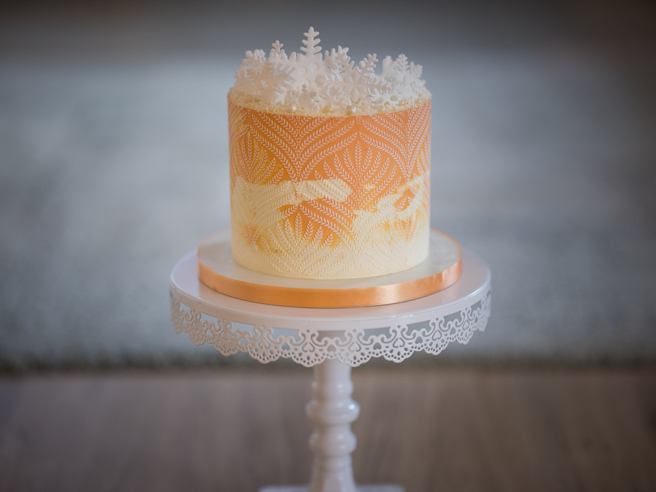 Schneeflocken-Torte