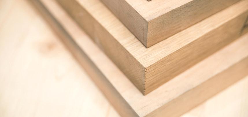 Diverse Echtholzplatten