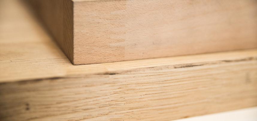 Massivholz keilgezinkt
