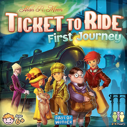 Ticket to Ride first Journey משחק קופסה מדעי הלוח טיקט טו רייד לצעירים