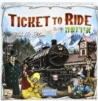 משחק קופסא טיקט טו רייד אירופה משחק לוח מדעי הלוח Ticket to Ride Europe game