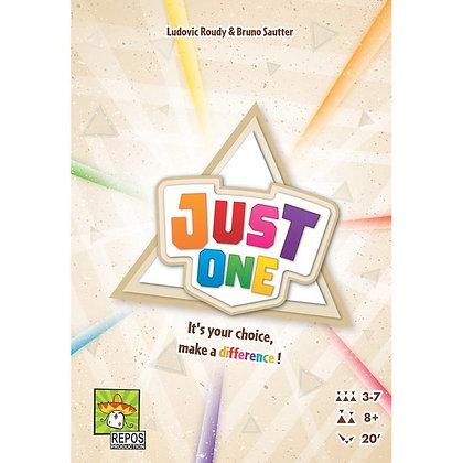 משחק קופסה שיתופי של נתינת רמזים באנגלית. מצוין לפיתוח השפה Just One