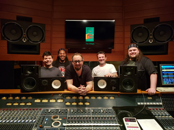 Drum Recording Crew at The VIllage Studio A 2018