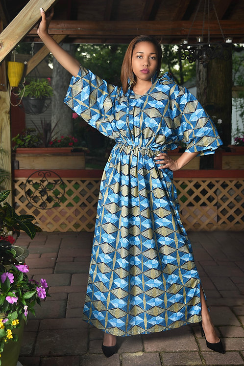 Bluegold Hooded Maxi Dress - United Royalty Collection
