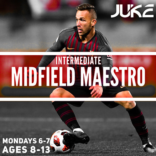4-pack-MONDAY Midfield Maestro Ages 8-13 (1 session)