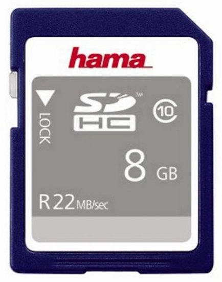 כרטיס זיכרון HAMA SDHC8GB 22MB/s