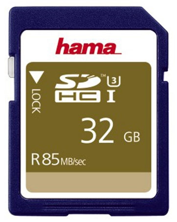 כרטיס זיכרון HAMA SDHC32GB 85MB/s