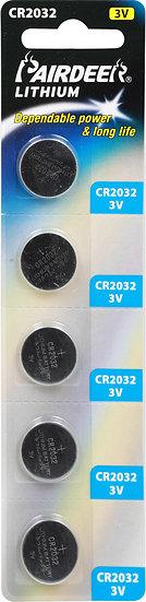 סוללת ליטיום כפתור 5 יחידות V3 CR2032 PKCELL
