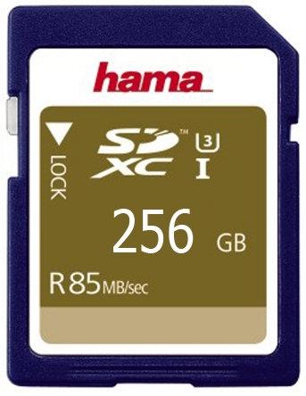 כרטיס זיכרון HAMA SDHC256GB 85MB/s