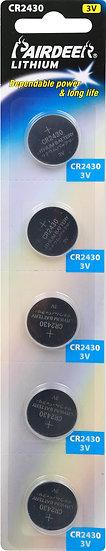 V3 CR2430 PKCELL--- סוללת בליסטר 5 יחידות