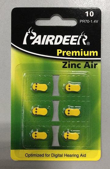 סוללות למכשיר שמיעה 6 יחידות - Pairdeer 10