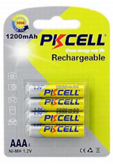 סוללת נטענות 4 יחידות בבליסטר AAA ניקל מטאל 4B-AAA1200 P