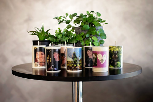 Memories of Light Custom Photo Candles