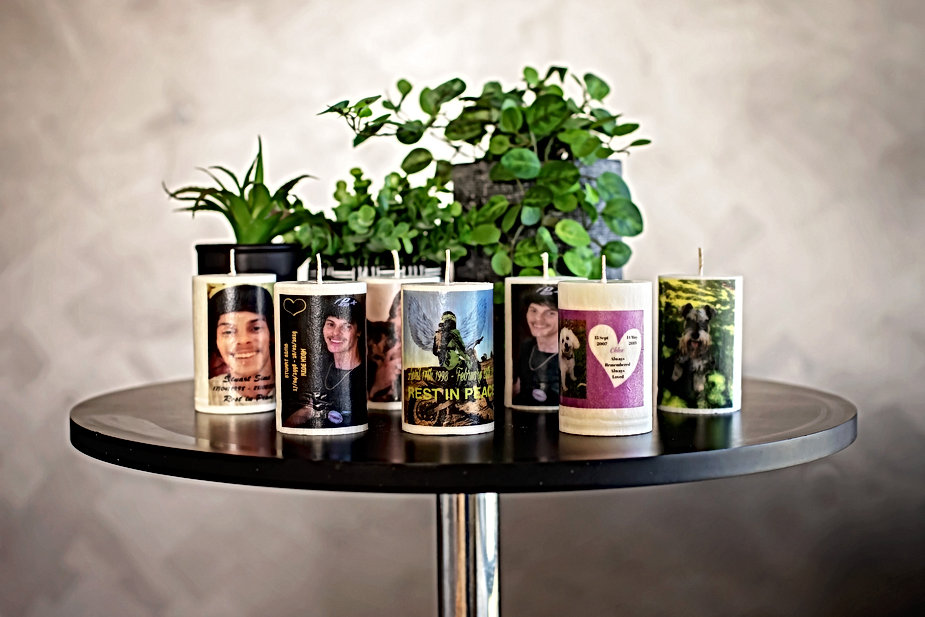 Custom hand made candles with cusom images - by Maddie's EartScentauls